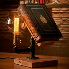 Auraglow Steampunk Industrial Effect Book Stand Table and Desk Lamp
