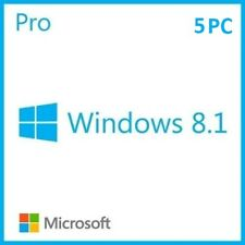 MS Windows 8.1 Professional - 1/2/3/4/5 PC 32&64 Bits, OEM, Produktkey per email