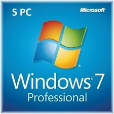 MS Windows 7 Professional 1/2/3/4/5 PC, 32&64 Bits OEM, Produktkey per email