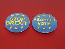 Stop Brexit and Peoples Vote 45mm Pinback Badge Protest Badge for Remaining in t