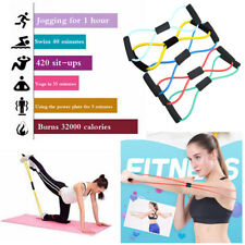 Exercises Resistance Band Rope Fitness Latex Rubber Stretch Loop Yoga Pilates