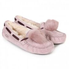 UGG Womens Dakota Slippers Pom Pom Dusk Pink