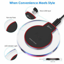 Wireless Charger Charging Dock Pad Fast Qi For Samsung Galaxy Apple iPhone X S8