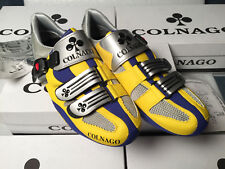 Special Edition COLNAGO YELLOW GRAY BLUE scarpe road cycling campagnolo shoes 40