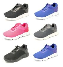 Children's Boys Girls Sports Running Lace Up Trainers Gym Shoes Casual Size 8-2