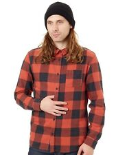 Chemise à manches longues Quiksilver Motherfly Flannel Barn Rouge Check