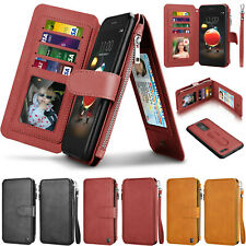For LG Tribute Dynasty/LV3 2018/Aristo 2/K8+ Card Holder Strap Wallet Case Cover