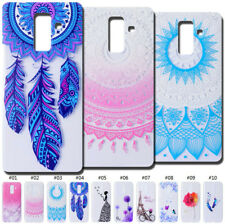 For Samsung TPU Case Cover Silicone Pattern Protective Cute Soft Skin Clear Back