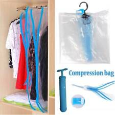 Vacuum Air Pumping Compression Storage Bags Hanging Clothes Hanger Dustproof Bag