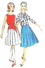 BLOUSE AND BOX PLEATED SKIRT DOLL PATTERN 5700 NEW TONNER
