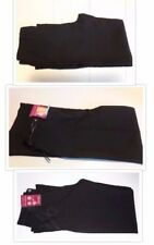 Girls School Trousers/Black Or Navy/Front Seam/Belted/Embroidered/9-10,10-11,13