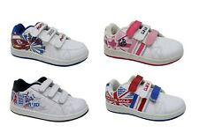 NEW! Boys Girls Kids England Team GB Sports School Trainers Shoes Size 8 to 2
