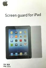 Clear Screen Protector LCD Cover Guard Film Shield for Apple iPad 2 3 4