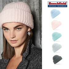 Beechfield Plush beanie - Warm winter fashion hat men/women soft colours B418