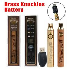 BRASS KNUCKLES BATTERY 100%AUTHENTIC 900MAH ADJUSTABLE HEAT USB CHARGER 3 COLORS