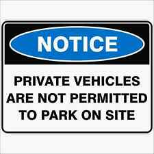 Vehicles Left At Owners Risk Sticker Correx Plastic Or Aluminium Sign NN0053