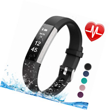 Letsfit Fitness Tracker Heart Rate Monitor, Slim Activity, Smart Pedometer Watch