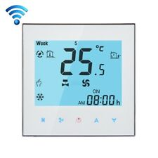 WIFI Fan Coil Air Condition Thermostat Weekly Programming LCD Touch Screen 2Pipe