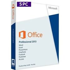 MS Office 2013 Professional Plus (1-5 PC) 32&64 Lizenz+Produktkey per E-Mail