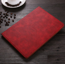 For iPad 9.7 2017/2018 Mini 1 2 3 4 Pro 10.5 Case Stand Smart Cover Leather Red