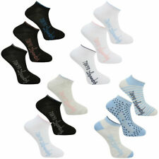 New Womens Tokyo Laundry (3 Pack) Cotton Blend Ankle Trainer Socks One Size