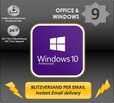 MS Windows 10 Professional, 1/2/3/4/5 PC-32&64 Bits, Produktkey per E-Mail