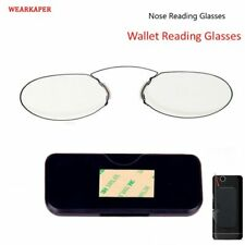 WEARKAPER TR90 Clip Nose Reading Glasses Mini Folding Wallet Reader Thin