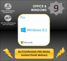 MS Windows 8.1 Professional, Win 8.1 Pro, 32&64 Bit, Direkt key per email DL