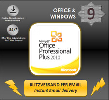 MS Office 2010 Professional Plus, Pro Plus, 32&64 Bits, Direkt Key per email DL