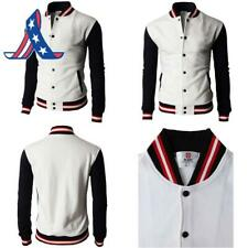 H2H Mens Casual Slim Fit Varsity Baseball Jackets Bomber Cotton Lightweight Coat