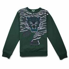 dd64e9d8 Kenzo Tiger Embroidered Sweater Sweatshirt Light Gray 100 ...