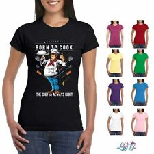 Born To Cook Ladies Fit T-Shirt | Cooking | Baking | Chef | Chef T-Shirt