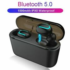 Wireless Earbuds TWS True Mini Bluetooth 5.0 Stereo Earphone Bass In-Ear Headset