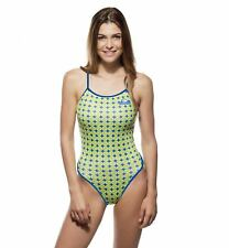 88dc82ed3de Turbo Sports Swimming Costume Ladies Flower 70 Thin Strap Green Swimsuit New
