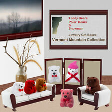 Teddy Polar Bear Snowman Jewelry Gift Box Vermont Mountain Collection