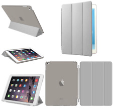 For Apple iPad 4 3 2 mini Air 2 Pro Case Cover Stand Leather Magnetic Grey