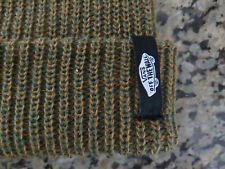 VANS off the Wall Beanie Skull Cap Hat in Rust Knitted One Size