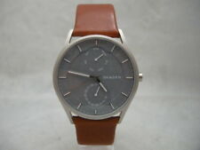 SALE: Authentic Skagen SKW6264 Holst Grey Mineral Dial Leather Men's Watch