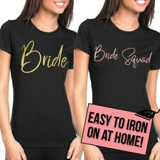 Team Bride Iron On T Shirt Transfer Bride To Be Tribe Squad Hen Do Party Text H7