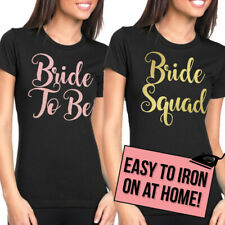 Bride Hen Party Iron On T Shirt Transfer Bride To Be Tribe Squad Hen Do Text H8