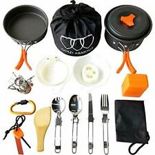 17Pcs Personal Lightweight Camping Backpacking Hiking Bug Out Cookware Mess Kit