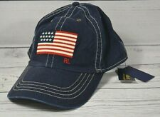 NWT POLO RALPH LAUREN CLASSIC NAVY BLUE FLAG BASEBALL CAP HAT ONE SIZE