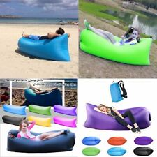 Portable Lazy Air Sofa Lounger Couch Chair Sofa Carry Bag Hangout Camping Beach