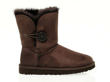 Ankle boot UGG AUSTRALIA 5803 C in chocolate suede leather - Women's Shoes