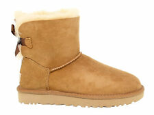 Ankle boot UGG AUSTRALIA 6501 B in beige suede leather - Women's Shoes