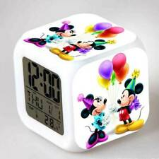Minnie / Mickey Mouse Alarm CLock LED Colorful Touch Light