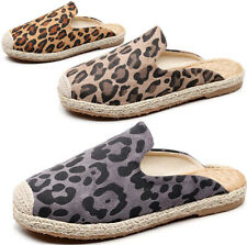 Womens Casual Slip On Espadrilles Canvas Mules Sneakers Flats Slippers Shoes New