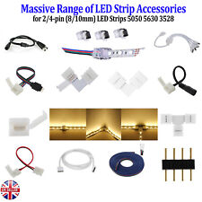 2/4Pin LED Strip Straight L T Clip Extension Wire Cable Hippo Adapter Connector