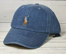 NWT POLO RALPH LAUREN CLASSICS DENIM BLUE BASEBALL CAP HAT ONE SZ