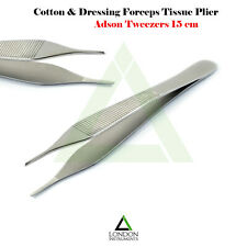 Dental Adson Forcep Serrated Tip Plier Surgical Tweezer Dentist Lab Tool
